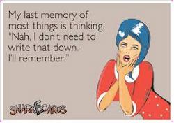 I'll remember card