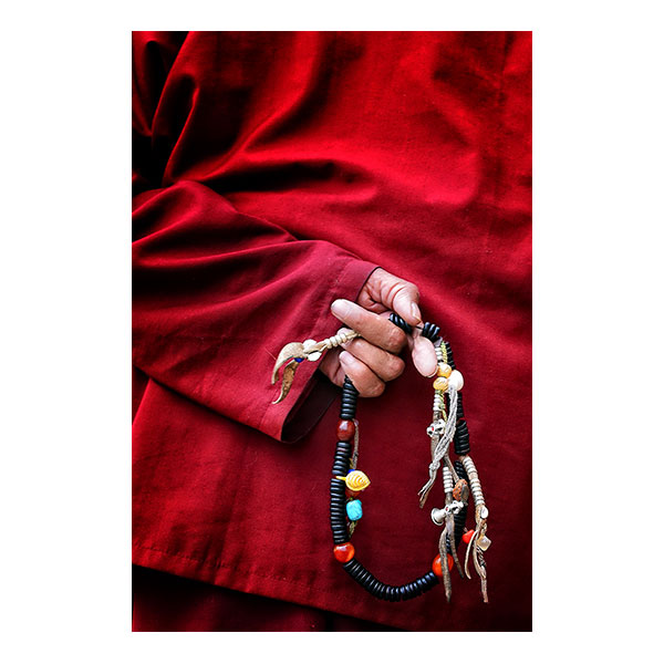 Prayer Beads Behind