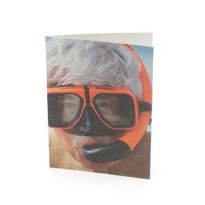 tad snorkel safe sex greeting card
