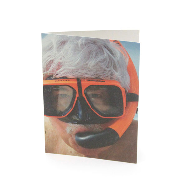 tad snorkel safe sex greeting card