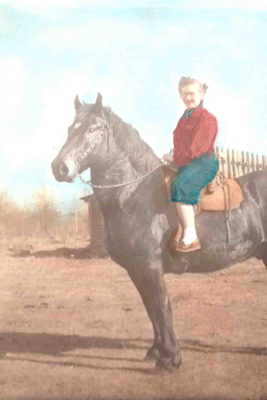 Mom Riding a Horse