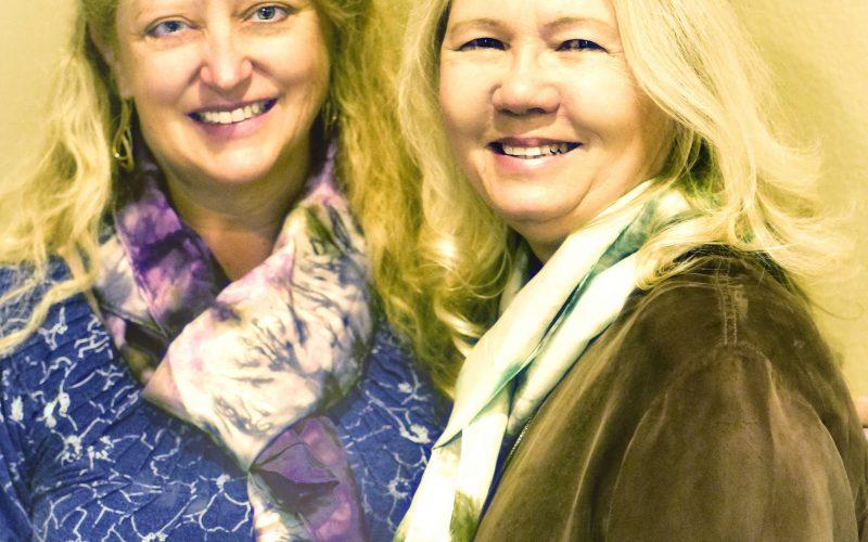 October's Silk Scarf Ambush Models…Teri Lou Dantzler and Lynette Sheppard!