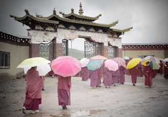 square-nuns-in-tibet-with-umbrellas-feat