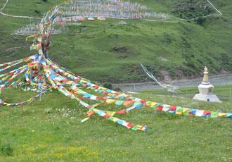 Prayer Flags and Chorten